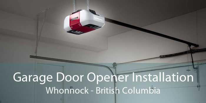 Garage Door Opener Installation Whonnock - British Columbia